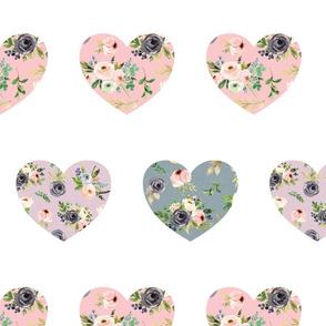 blush floral hearts