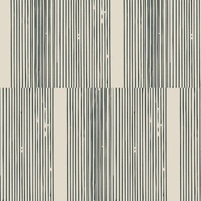 Organic Stripes in Charcoal on Cream