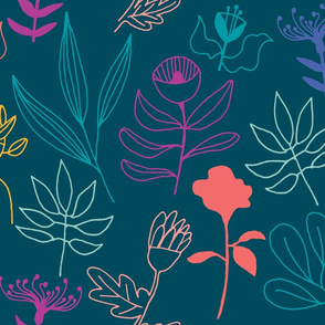 whatnot floral doodles