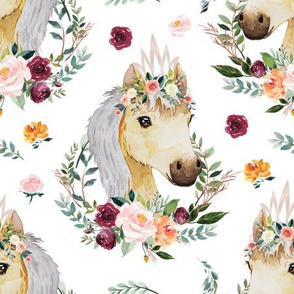 """paprika floral horse with crown 6"""""""