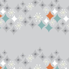 POSTCARD RETRO starburst pattern