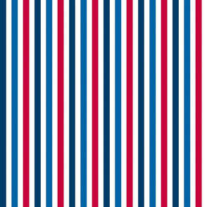 Stripes In Red White And Blue