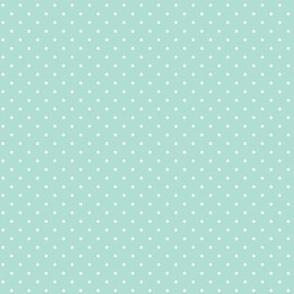 polka dots on aqua C19BS - peaches coordinate