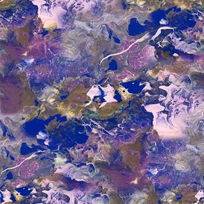 Acrylic Pour Purples