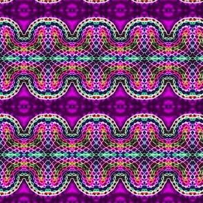 Woven Mosaic Heart Stripes