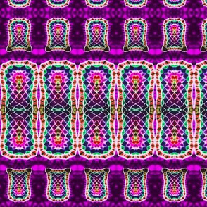 Stretched Mosaic Stripe Weave in Purple