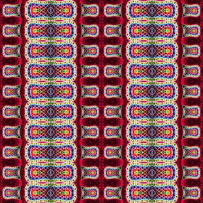 Stretched Mosaic Stripe Weave in Red
