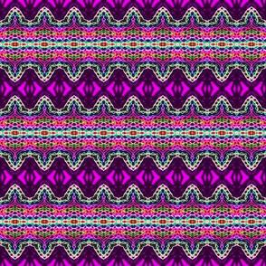 Purple Mosaic Stripe Tips