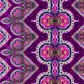 Purple Mosaic Zigzag