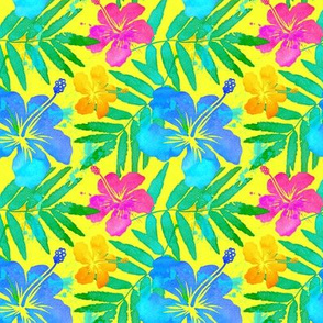 Tropical flowers summer pattern