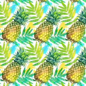 Little watercolor pineapples