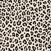 ★ CUSTOM BLACK AND WHITE LEOPARD - LEOPARD PRINT in CREAM ★ Small Scale / Collection : Leopard spots – Punk Rock Animal Print