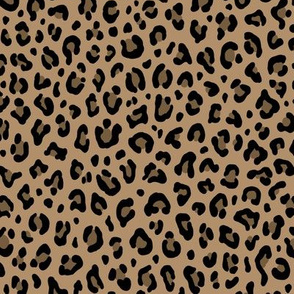 ★ LEOPARD PRINT in ICED COFFEE BROWN ★ Small Scale / Collection : Leopard spots – Punk Rock Animal Print