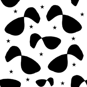 Infinity in Monochrome (with Stars) - black on white