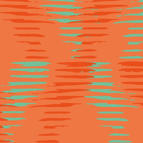Orange and green-blue diagonal lines