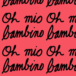 Oh mio bambino - pink coral (large)