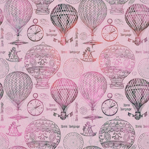 Vintage Travel Hot Air Balloons