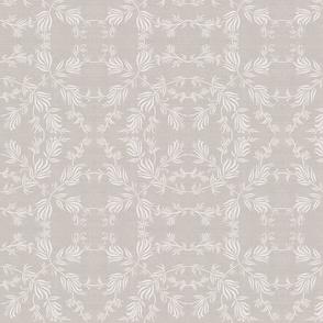 Summer Twining Botanical Off White Linen