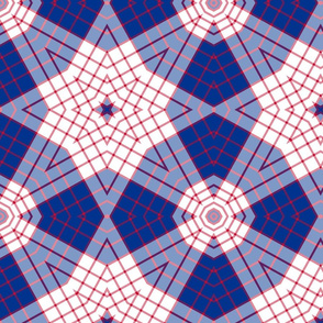 The Red and the Blue: Star Plaid