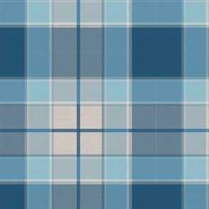 Plaid Enamel Blue