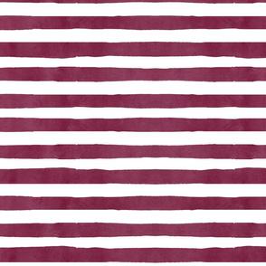 maroon stripe