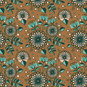 Limited Palette stylised floral