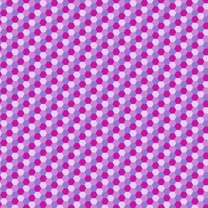 Hexagon Flowers M Purple Pink