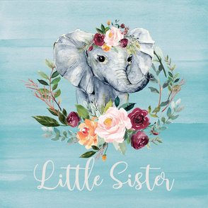 paprika floral wreath elephant little sister