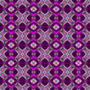 Purple Checks & Diamonds