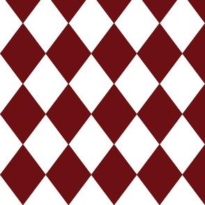 Merlot Red Modern Diamond Pattern