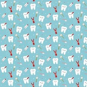 SMALL Happy Teeth & Friends - Light Teal Tiny Mini