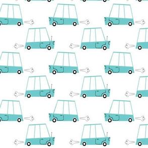Blue Retro Cars