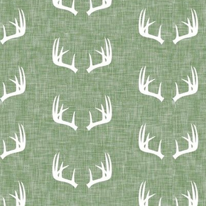 antlers on light sage linen LAD19