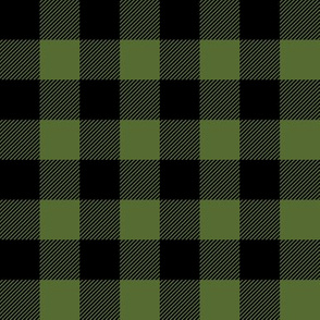 plaid - olive green and black - lineman coordinate C19BS