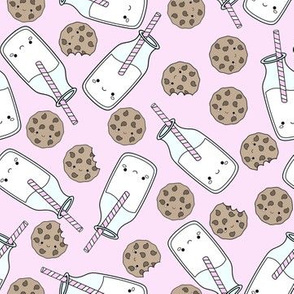 milk and cookies pink