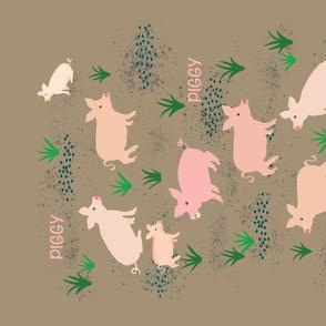 Pigs in Mud-TeaTowel