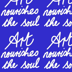 Art Nourishes the Soul - blueberry (large)