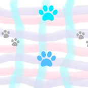 Puppy Paws Walking on Gingham