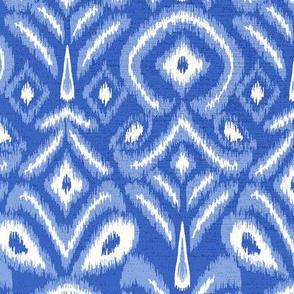 ikat flower - blue