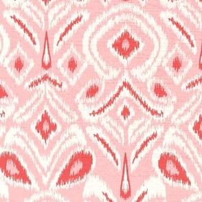 ikat flower - blush background