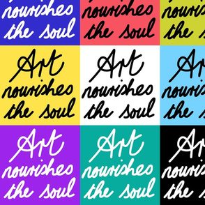 Art Nourishes the Soul - patchwork (large)
