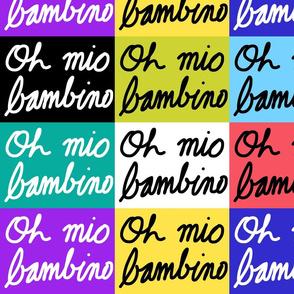Oh mio bambino - patchwork (large)