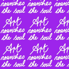 Art Nourishes the Soul - purple grape