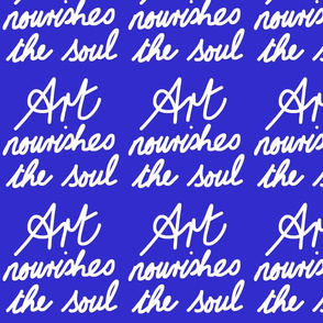 Art Nourishes the Soul - blueberry