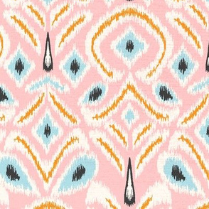 ikat flower - blush