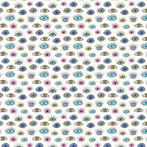 evil eye multicolour (small scale)