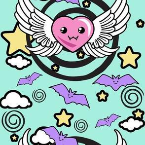 Vampire Heart Fabric