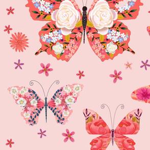 Pink butterlfies
