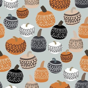 mudcloth pumpkin fabric - mudcloth fabric, thanksgiving fabric, fall, autumn, home, boho halloween, boho decor fabric - dust
