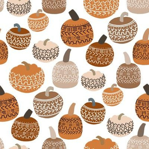 mudcloth pumpkin fabric - mudcloth fabric, thanksgiving fabric, fall, autumn, home, boho halloween, boho decor fabric - earth